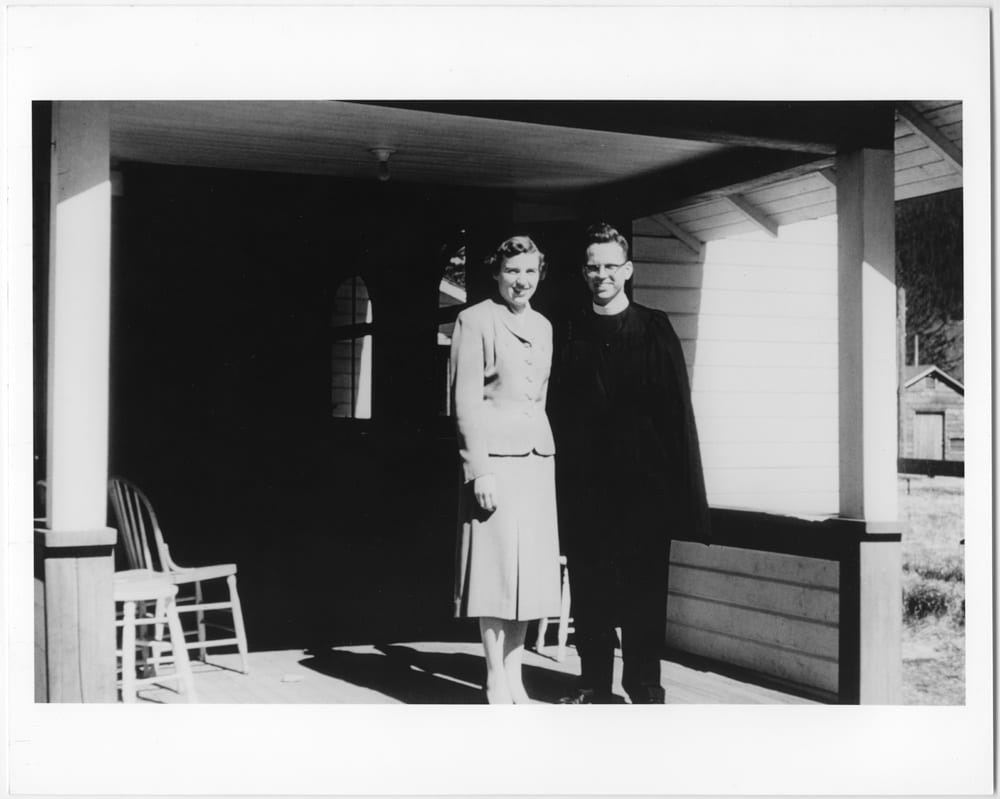R. Grant Bracewell with wife Eleanor