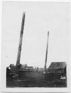 Totem poles, Kispiox, B.C.