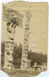 Haida totem poles, Skidegate, Queen Charlotte Islands
