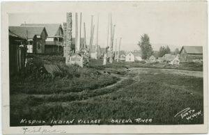 Kispiox Indian village, Skeena River