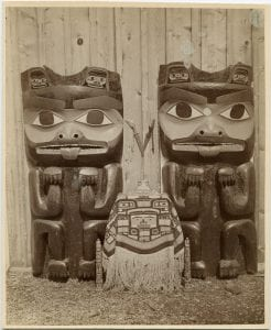 Haida Indian carvings