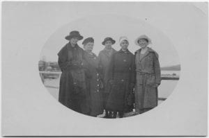 Staff of Crosby Girls' Home as they looked when leaving Port Simpson