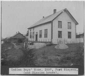 Indian Boys' Home, Port Simpson, B.C. (and mission house)