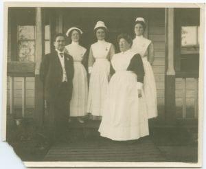 Dr. Large and staff, Port Simpson Methodist Hospital