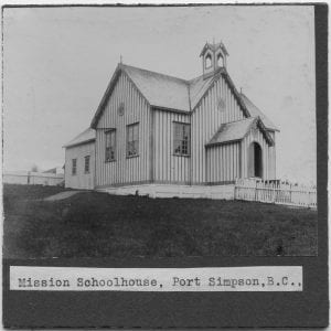 Mission school house, Port Simpson, B.C.