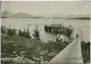 Wharf at Bella Bella, B.C.