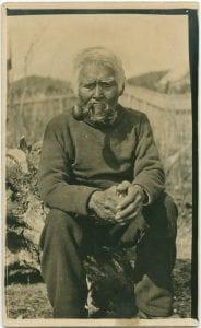 Old Dick Jakesuwallis: the oldest man in Bella Bella