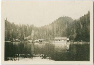 Allison's logging camp