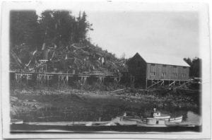 Cannery scene, Rivers Inlet