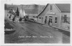Indian horse race, Hazelton, B.C.