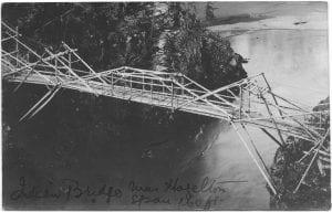 Indian bridge near Hazelton: span 160 ft