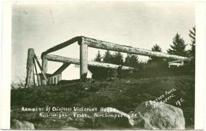 Remains of Chieftess Victoria's house: Kill-loo-zal Tribe, Port Simpson, B.C.