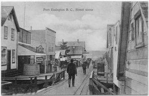 Port Essington B.C., street scene