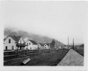 Main street in the Bella Coola Indian village