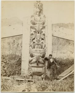 [Haida totem pole, Masset, Queen Charlotte Islands]