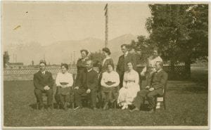 G.H. Raley, Principal, with staff of the Coqualeetza Industrial Institute