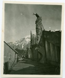 A scene in the old [...] village of Bella Coola