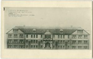 Sketch of proposed Coqualeetza Institute, Sardis, B.C.