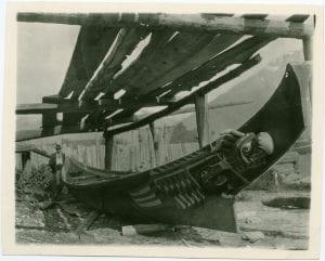 [Bella Coola carved canoe]