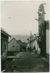 Street scene from the village of Bella Coola
