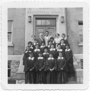 Staff and Choir, Alberni Indian Residential School