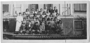 Pupils and staff of the E.L.M. Home, Kitamaat, B.C.