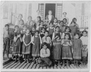 Children and staff of E.L.M. Home, Kitamaat