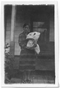 Japanese woman and baby, Skeena River