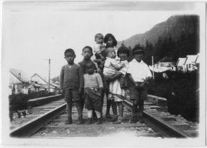 Japanese children, Skeena River