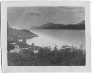 Looking south from the E.L.M. Home, Kitamaat
