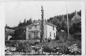 Indian totem pole, Kitamaat near. Prince Rupert, B.C.