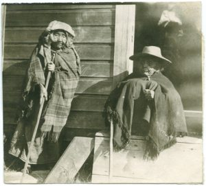 Two old women at the Esquimalt Indian Reserve