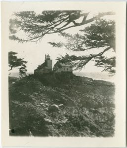 Egg Island Lighthouse from the land