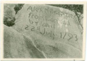 Inscription on rocks