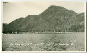 Hartley Bay, B.C. with Mt. Peacock in background