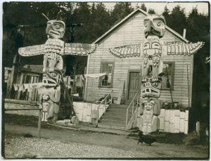 Chief's totems on north B.C. coast