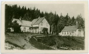 Mission house and church at Skidegate