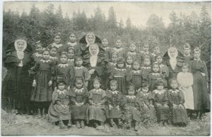 Teachers and girls of the Williams Lake Industrial School