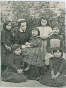 W. [Comers?] with children, All Hallows Boarding School