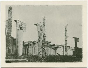 Haida totem poles [Cumshewa?], Queen Charlotte Islands