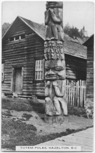 Totem poles, Hazelton, B.C.